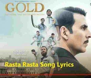 Rasta Rasta Lyrics by Sukhwinder Singh, Sachin Sanghvi, Jigar Saraiya