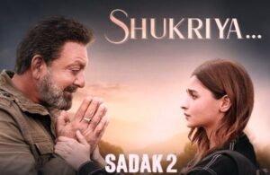 Shukriya Lyrics from Sadak 2 is brand new Hindi song sung by Jubin Nautiyal